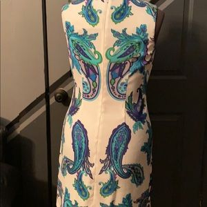 Abg Dresses - AGB Jewel colored paisley print on white size 10